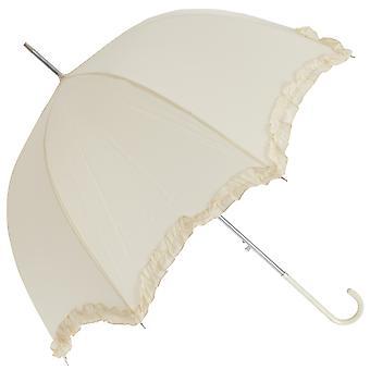 المرأة/السيدات الزفاف الأبيض مظلة مع تقليم فريل