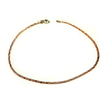 Pink And White Diamond Cut Anklet In Sterling Silver, 10