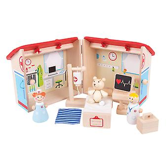 Bigjigs Toys en bois Mini hôpital Play Set Toy