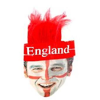 Engeland St George hoofdband met bijgevoegde haren