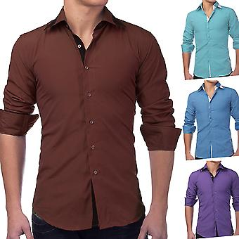 Men's shirt long sleeve polo shirt Slim Fit Casual Business Style