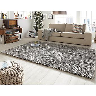 Concevoir des velours coupés tapis épais fil gris crème