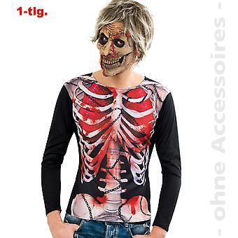 Camiseta zombie traje las damas de muertos vivientes Halloween Damenkostümm
