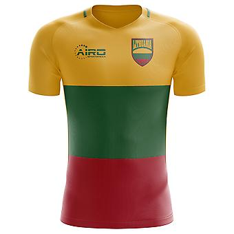 2020-2021 ليتوانيا مفهوم المنزل لكرة القدم قميص - الكبار طويلة الأكمام
