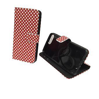 Mobiele telefoon case etui voor telefoon Apple iPhone 8 plus polka dot Red