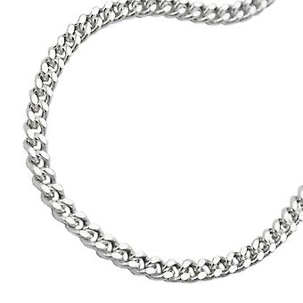 Tank chain silver necklace chain, chain flat, Silver 925