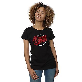 David Bowie kvinnors Neon Logo T-Shirt