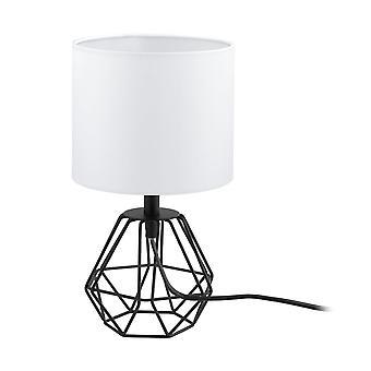 EGLO Carlton svart Wire Frame bur bordslampa och skugga