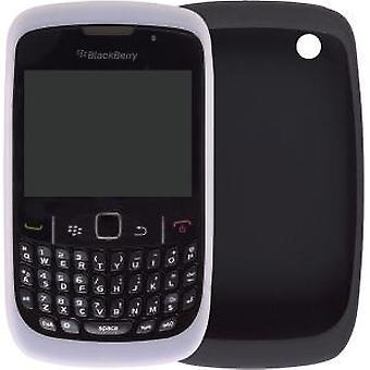 OEM BlackBerry 8500 8520 8530 9330 ihon suojakotelo - musta & valkoinen (2 kpl)