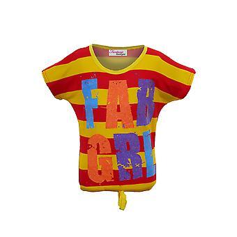 Childrens Stripe Multi Color lässig Top Kinder Fab Mädchen prickelnde Party T-Shirt
