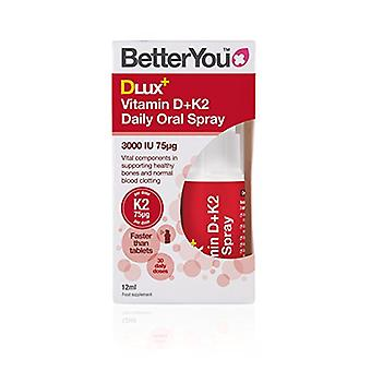 BetterYou, DluxPlus Vitamin D+K, 25ml
