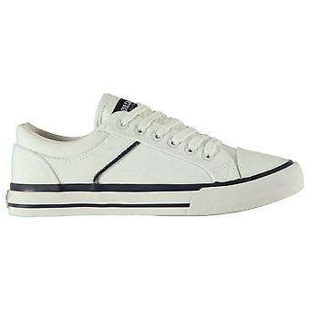 SoulCal Womens Asti Canvas Trainers Low Lace Up