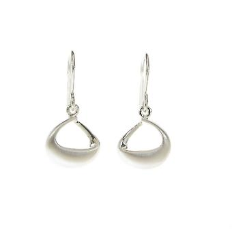 Cavendish French Brushed and Puffed Silver Loop Earrings
