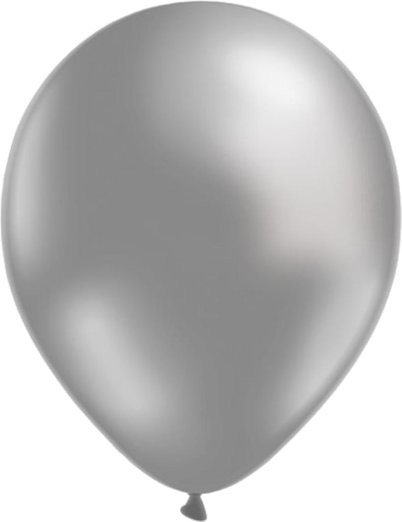 Ballonger 24-pack  - 3 färger - silver, vit och svart