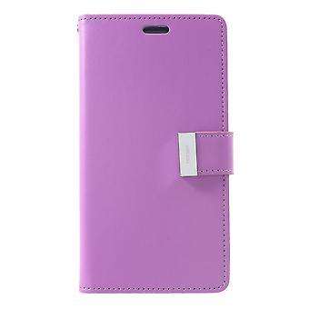 Mercury GOOSPERY Rich Diary pour iPhone XR-Purple