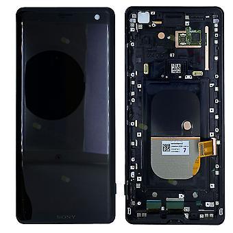 Sony wyświetlaczem LCD kompletny z ramki 1315-5026 nowych części zamiennych Xperia XZ3 H8416 H9436 H9493 czarny