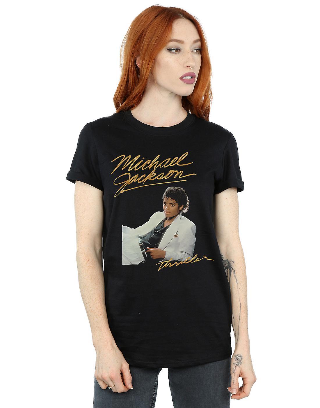 Michael Jackson Women's Thriller Album Boyfriend Fit T-Shirt