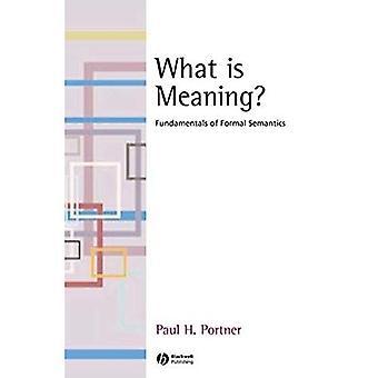Che cosa è significato?: fondamenti della semantica formale (fondamenti di linguistica)
