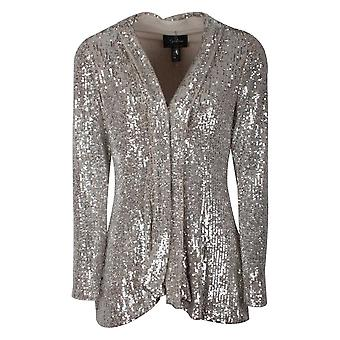 Frank Lyman Edge To Edge Gold Sequin Jacket