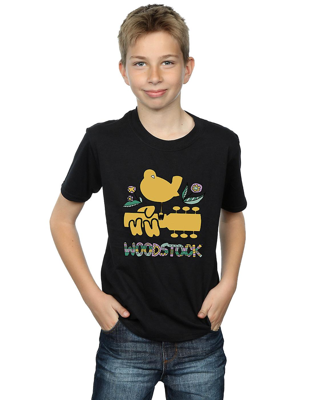 Woodstock Boys Bird Aztec Pattern T-Shirt
