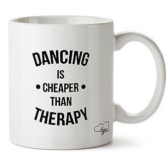 Hippowarehouse Dancing Is Cheaper Than Therapy Printed Mug Cup Ceramic 10oz