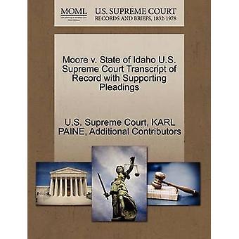 ムーア v. 米国連邦最高裁判所の嘆願を支持する記録の転写物