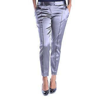 Love Moschino Ezbc061008 Women's Silver Acetate Pants
