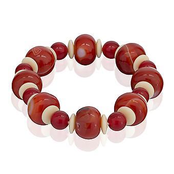 Skipper armband pärlor från naturlig sten armband resår röda 7879