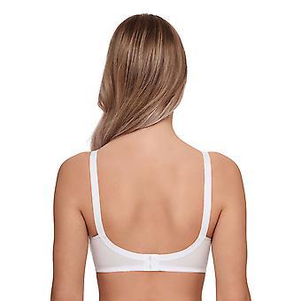 Susa 9398-3 kvinnors Topsy vita icke-vadderad icke-fast mjuk BH