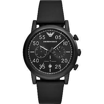Emporio Armani Mens Gents Face noire Wrist Watch AR11133