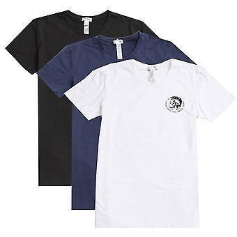 Diesel Umtee Randal Three Pack Crew Neck T-Shirt - Black/Navy/White