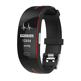 P3 activity wristband with PPG and ECG red