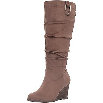 Dr. Scholl's Womens Poe Suede Closed Toe Knee High Fashion Boots