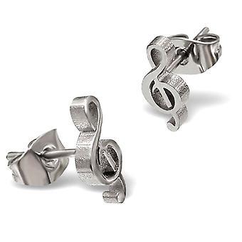 Musical Note Treble Clef Stud Earrings