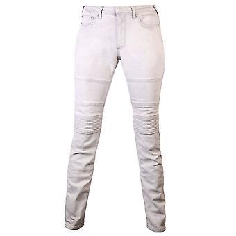 Neil Barrett Acid Bleached Skinny Jeans White