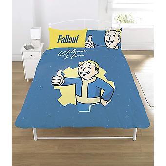 Fallout Duvet Set Polycotton Multi-Colour-Double