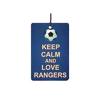 Holde ro og elsker Rangers bil Air Freshener