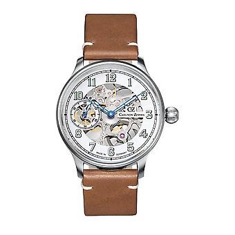 Carl von Zeyten Men's Watch Wristwatch Automatic Lahr silver CVZ0021WH