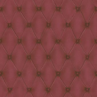 3D efecto Chesterfield cabecera cuero óptica fondo de pantalla burdeos rojo pasta pared