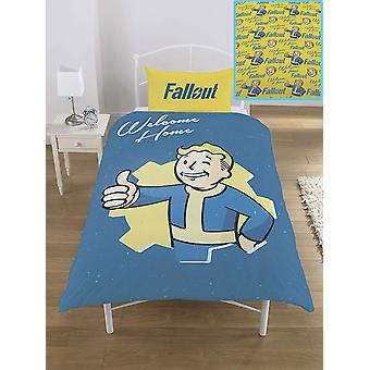 Fallout Vault Boy enkel Dekbedovertrek set