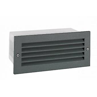 LED-Outdoor Recessed Wall Light Graphite Ip65