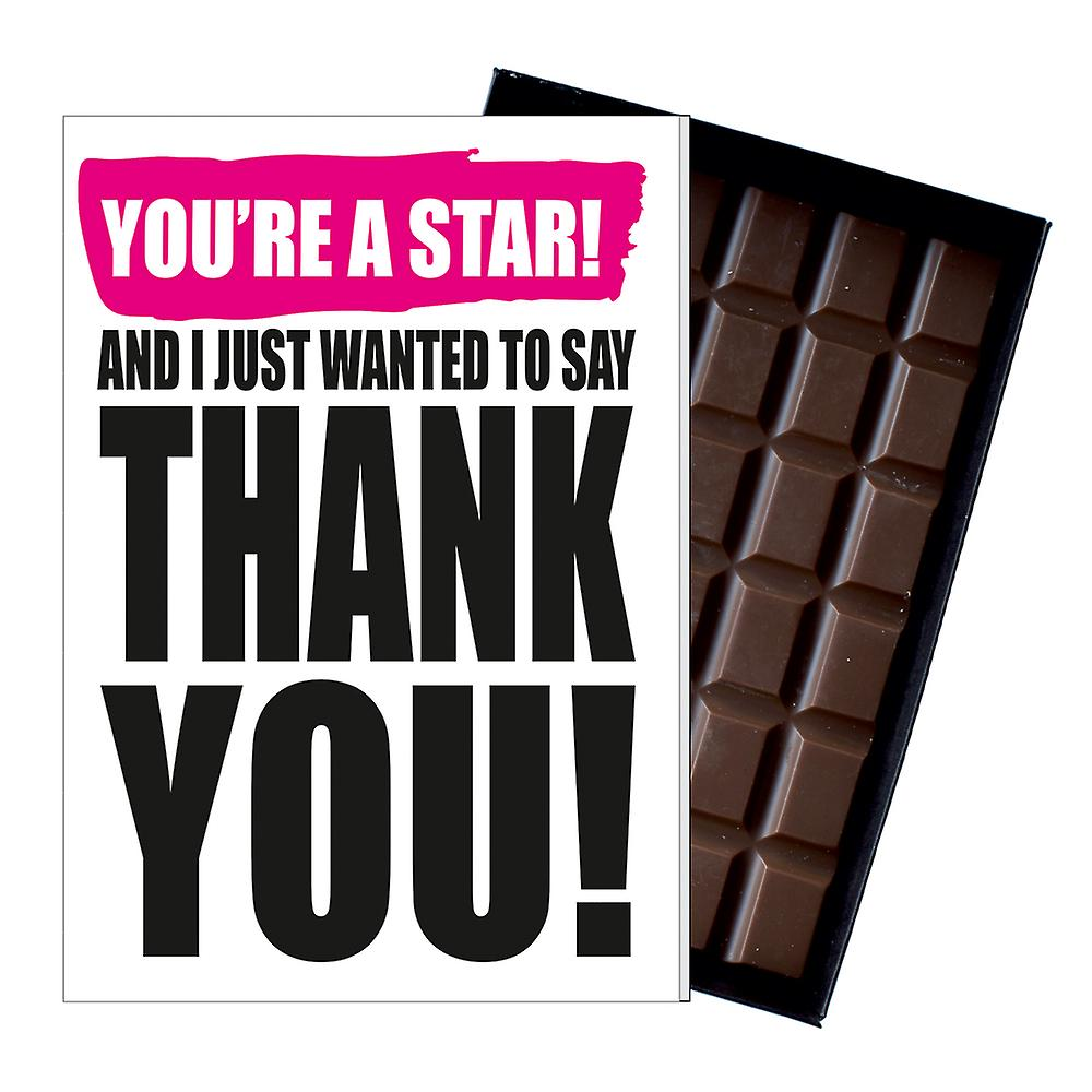 Thank You Gift Present to say Thanks Chocolate Greeting Card for Him or Her IYF198