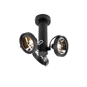 QAZQA Modern Adjustable Spotlights 3 Black incl. G9 - Goes