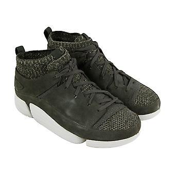 Clarks Trigenic Evo Hombres Verde Confort Casual Fashion Zapatillas Zapatos