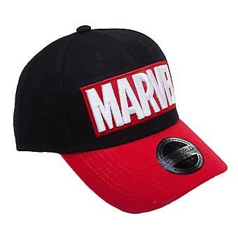 Marvel Red Brick Logo Curved Bill Cap