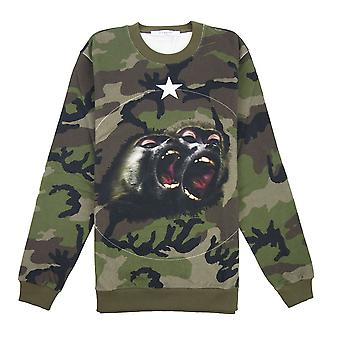 Givenchy Monkey Brothers Sweatshirt Camo