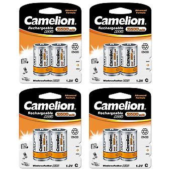 8x Camelion rechargeable C batteries NiMH HR14 2500mAh battery