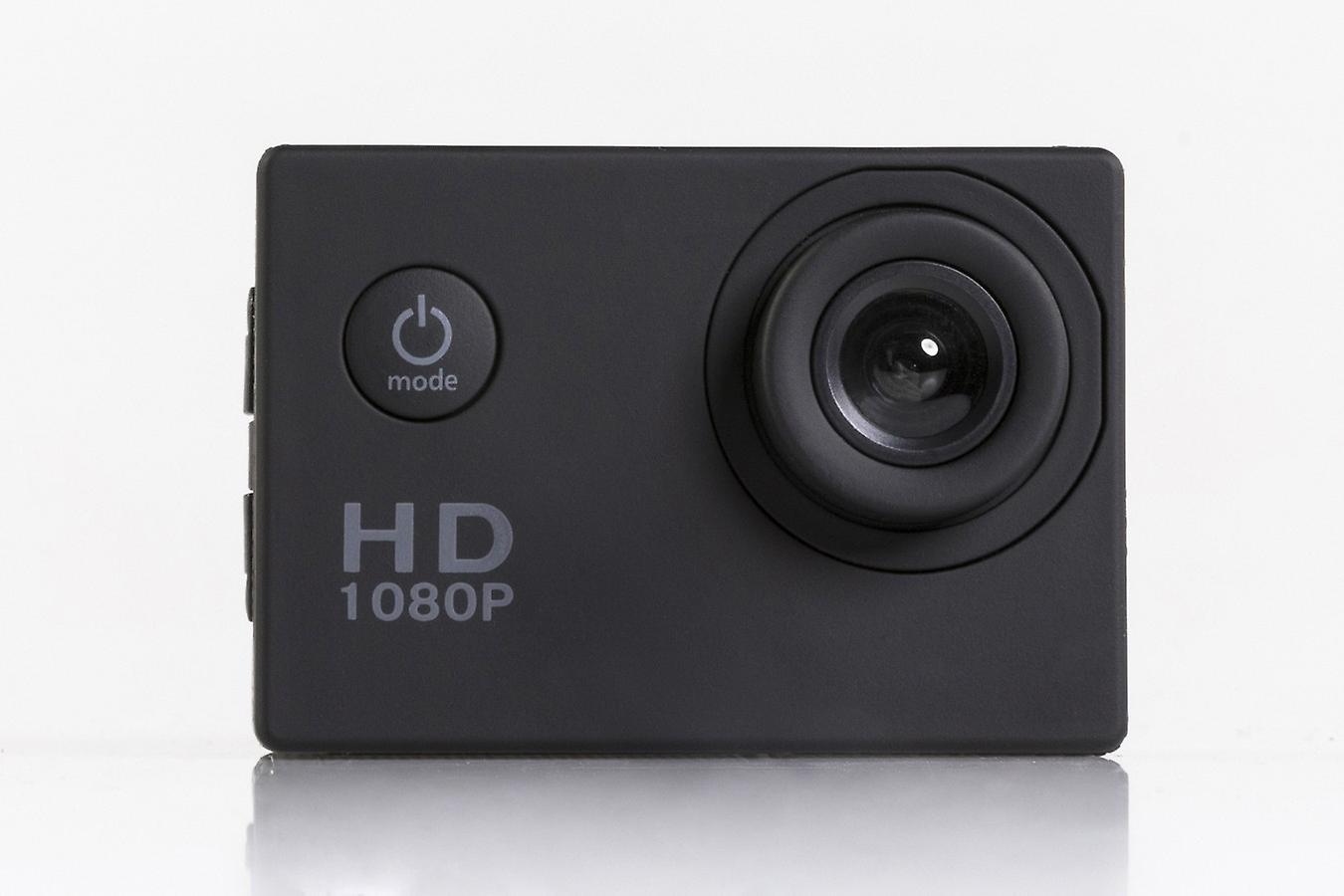 TECHNOSMART Full HD 1080P ActionCam, Waterproof Action Camera, Underwater Camera, Sport Action Camera, with 2 inch LCD Screen, 900 mAh Li-ion Battery with Accessories Kits
