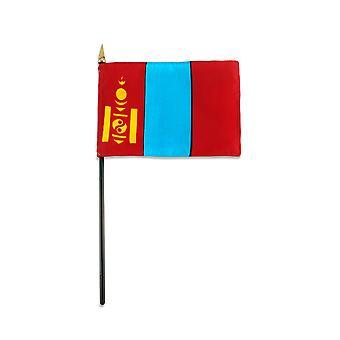 "Mongolia medium hand flag 9"" x 6"""