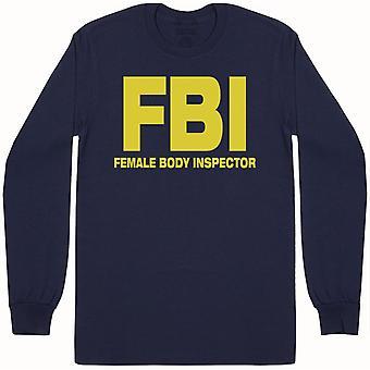 FBI-naisten Body Inspector-Miesten pitkähihainen T-paita